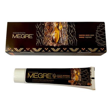 Hambapasta  «MEGRE» seedri eeterliku õli ja vaiguga, 60 ml (pruuni värvi)