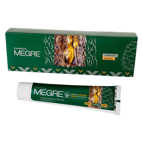 Hambapasta «MEGRE» seedriõli ja seedrivaiguga, 60 ml.