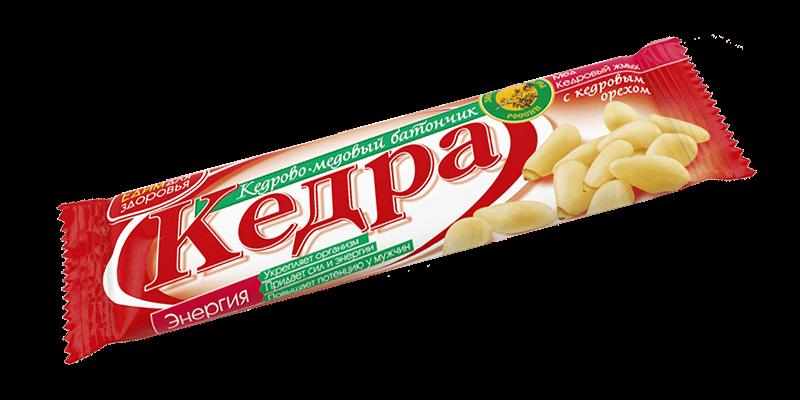 Seedri ja mee batoonike «ENERGIA» seedripähklitega, 30 g.